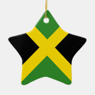 Jamaica flag  products ceramic star ornament