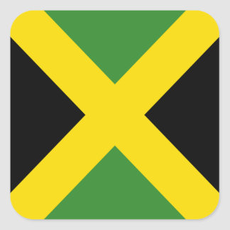 Jamaica flag  products square sticker