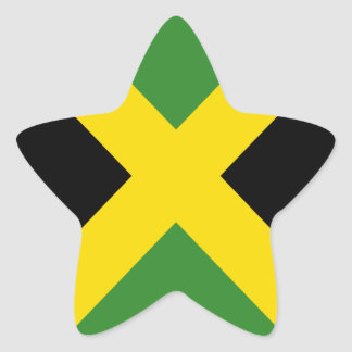 Jamaica flag  products star sticker