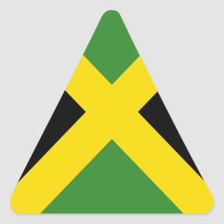 Jamaica flag  products triangle sticker