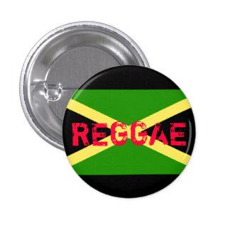 jamaica flag, REGGAE 1 Inch Round Button