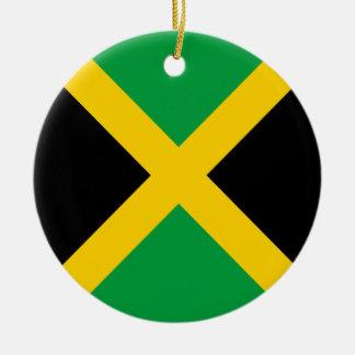 Jamaica Flag Round Ceramic Ornament