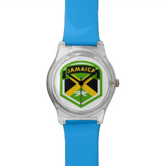 Jamaica Flag Shield Style Wrist Watches