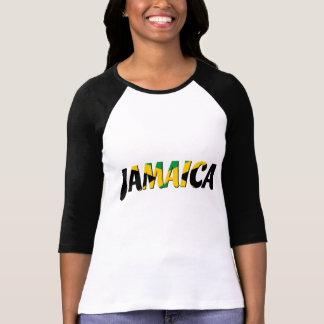 Jamaica flag text T-Shirt
