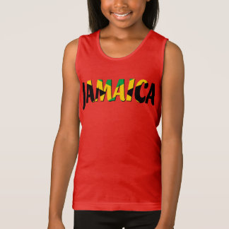 Jamaica flag text Tank Top