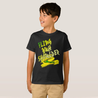 "Jamaica ""Fling Yuh Shoulder"" Kids T-shirt"