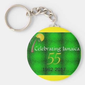 Jamaica Independence Round Button Keychain