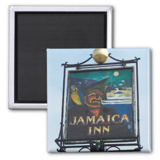 Jamaica Inn Pub Sign Photograph Magnet