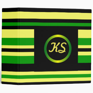 Jamaica Inspired Stripes Binder