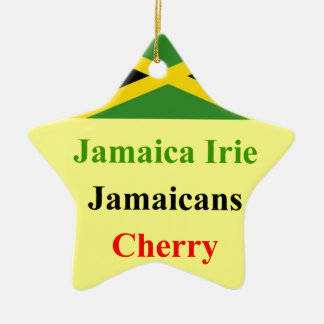 Jamaica irie ceramic star ornament