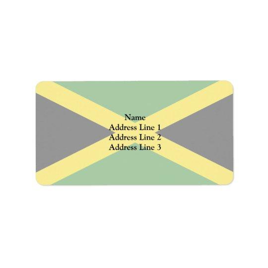 Jamaica, Jamaica flag Label