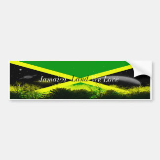 Jamaica Land We Love Bumper Sticker. Bumper Sticker