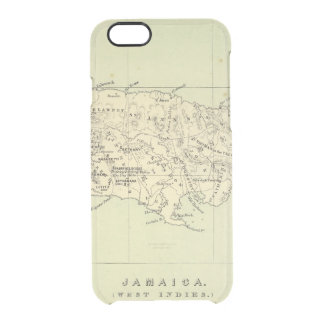 Jamaica Lithographed Map Clear iPhone 6/6S Case
