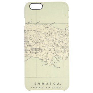 Jamaica Lithographed Map Clear iPhone 6 Plus Case