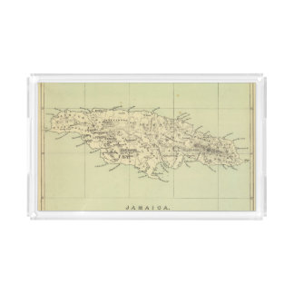 Jamaica Lithographed Map Serving Tray