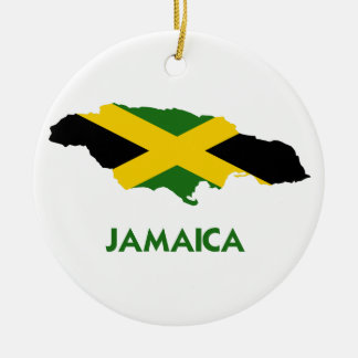 JAMAICA MAP CERAMIC ORNAMENT