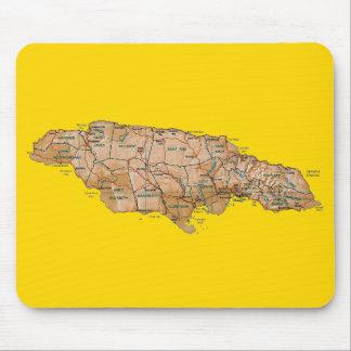 Jamaica Map Mousepad