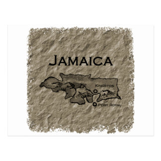 Jamaica Map (vintage) Postcard