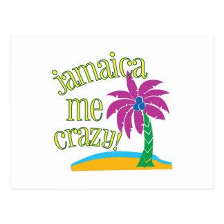 Jamaica Me Crazy Postcard
