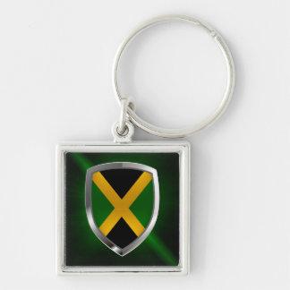 Jamaica Metallic Emblem Keychain