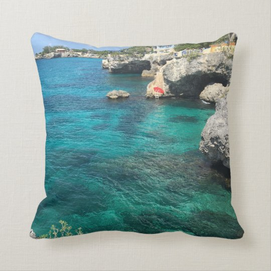 Jamaica Negril Throw Pillow 16x16
