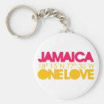 Jamaica One Love Keychain