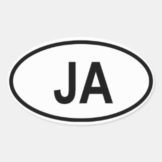 Jamaica Oval Sticker