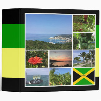 Jamaica Photo Collage Vinyl Binders