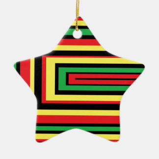 JAMAICA rasta roots colours Ceramic Ornament