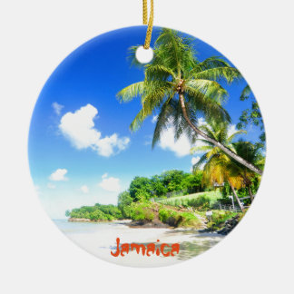 Jamaica Round Ceramic Ornament