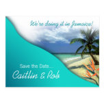 Jamaica Save The Date (emerald waters) Post Cards