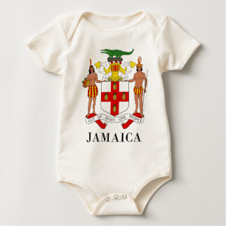 JAMAICA - symbol/coat of arms/flag/colors/emblem Baby Bodysuit