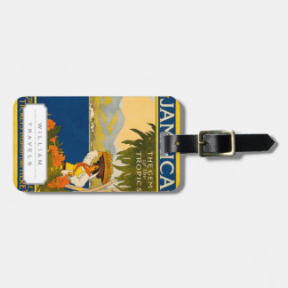 Jamaica, the gem of the tropics luggage tag