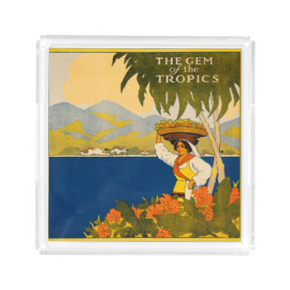 Jamaica, the gem of the tropics perfume tray