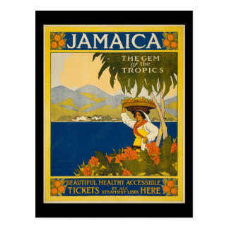Jamaica the gem of the tropics postcard