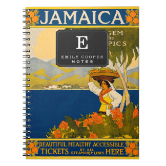 Jamaica, the gem of the tropics spiral note book