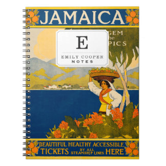 Jamaica, the gem of the tropics spiral note books