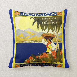 Jamaica The Gem of the Tropics Vintage Cushion