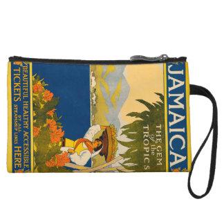Jamaica, the gem of the tropics wristlet purse