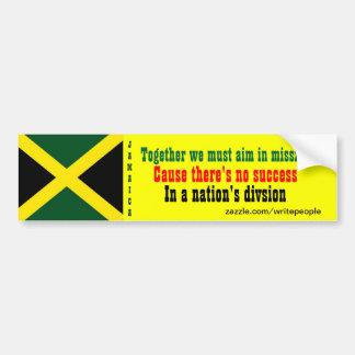 Jamaica togetherness bumper stickers