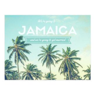 Jamaica Tropical Beach Wedding Save the Dates Postcard