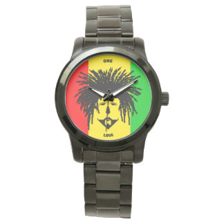 Jamaica Unisex Oversized Black Bracelet Watch