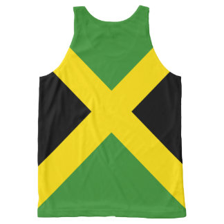 Jamaica unisex tank top flag design