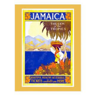 Jamaica Vintage Travel Poster Postcard
