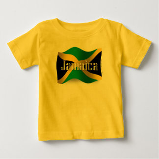 Jamaica Waving Flag Baby T-Shirt