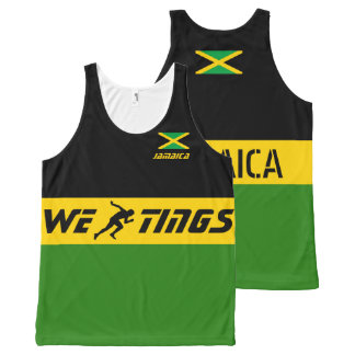 Jamaica we run tings All-Over-Print tank top