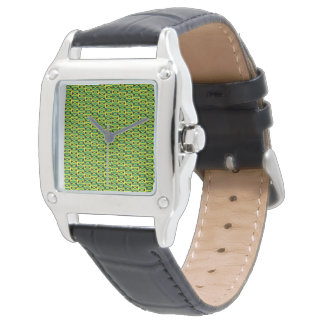 Jamaica - Women's Perfect Square Black Leat Watch