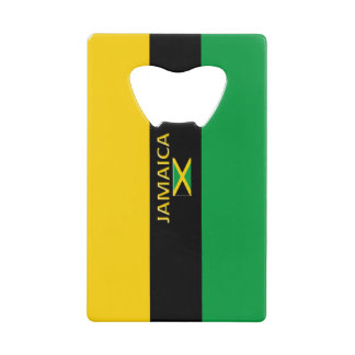 Jamaica Yellow Black Green Bottle Opener Credit Card Bottle Opener