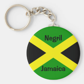 JamaicaFlag, Negril, Jamaica Keychain