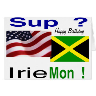 Jamaican american birthday card